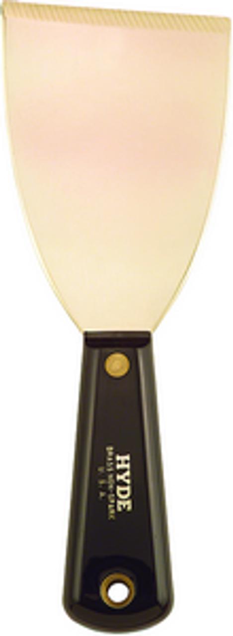 """HYDE 02420 3"""" BRASS BLACK & SILVER STIFF CHISEL/SCRAPER NON-SPARK"""