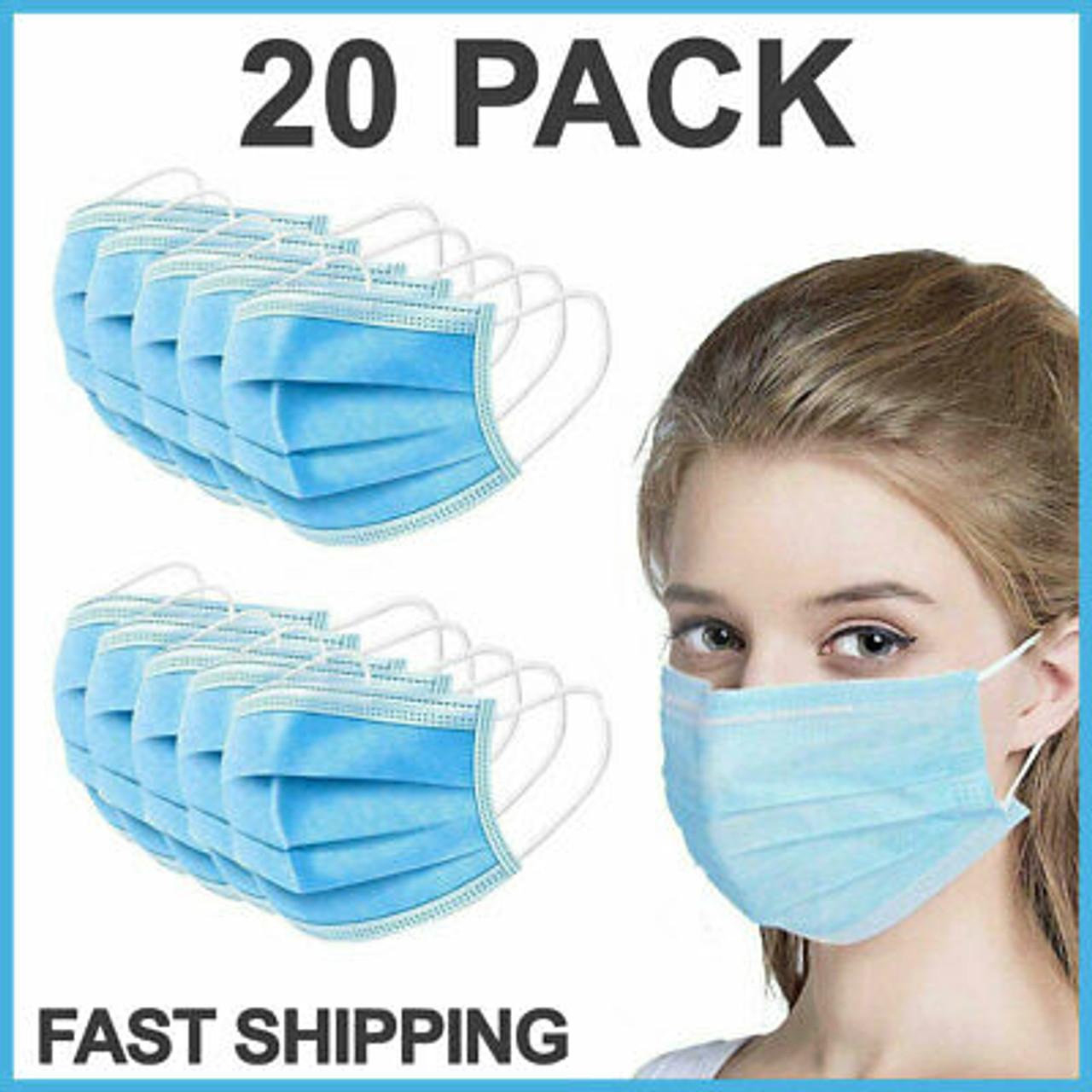 Disposable Medical Masks (Non-Sterile) - 20 pcs (20200501)