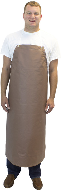 "14 Oz. 36""x48"" Medium Weight Maroon Hycar Apron, Four Grommets"