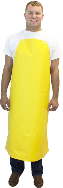 """16 Oz. 36""""x48"""" Heavy Weight Yellow Hycar Apron, Four Grommets & S"""