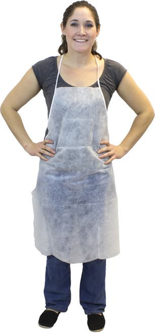"28""x36"" White Polypropylene Apron, 100/Case"