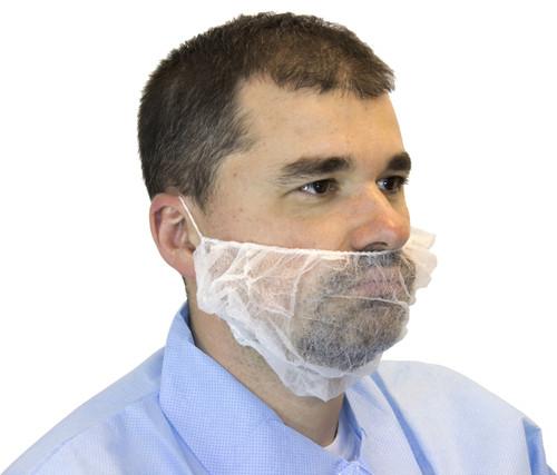 White Polypropylene Beard Cover, 100/BG 10BG/CS