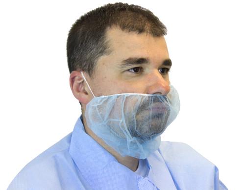 Blue Polypropylene Beard Cover, 100/BG 10BG/CS
