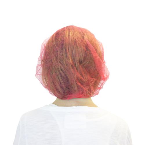 """21"""" Red Bouffant, 100/BG 10BG/CS"""