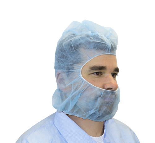 Blue Polypropylene Hood, 100PCS/BG 10BG/CS