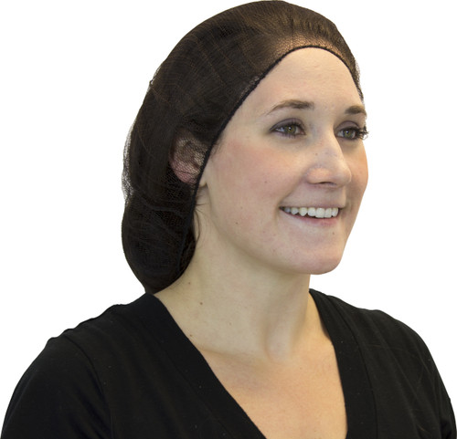 "24"" Brown Heavyweight Polyester Hairnet, 100/BG 10BG/CS"
