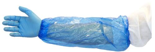 "16"" Blue Machine Made Polyethylene Sleeve, 2,000/CS"