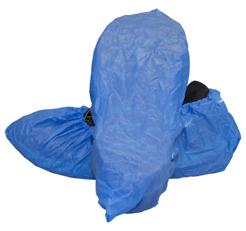 "Blue Cast Polyethylene ""CPE"" Shoe Cover, 300/CS, XL"