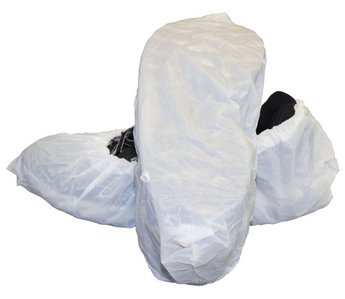 "White Cast Polyethylene ""CPE"" Shoe Cover, 300/CS, XL"