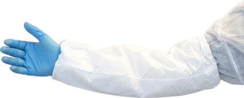 """18"""" White Breathable Microporous Sleeve, 200/CS"""