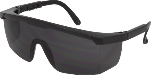 Black, Blue or USA Frame, Smoke Lens with Adjustable Temple, ANSI Z