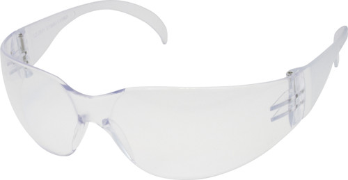 Wrap Around Style, Clear or Smoke Frame, Clear Lens, ANSI Z87+ Appr