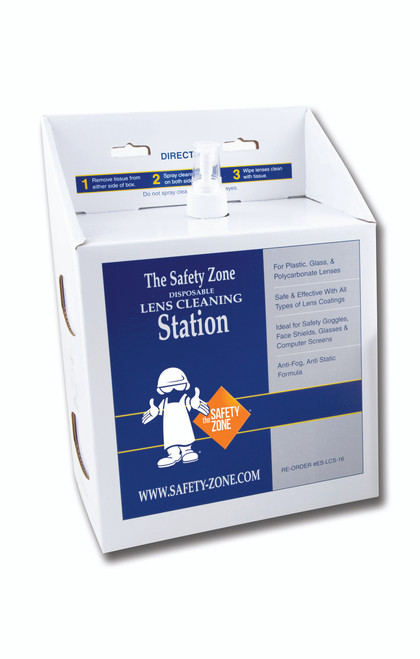Safety Zone Lens Cleaning Station, 16 Oz. Anti-Fog Lens Cleaning Solut