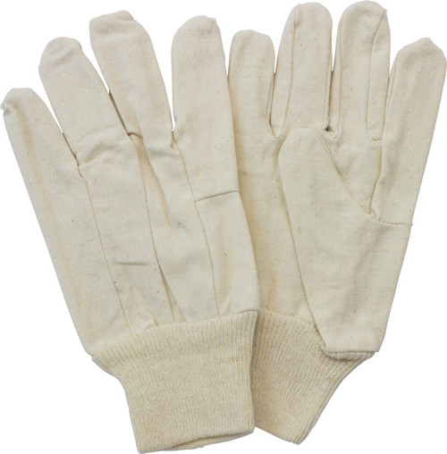 8 Oz. 100% Cotton Canvas Clute Cut, Knit Wrist, 1DZ Pair/Bag 25DZ/C