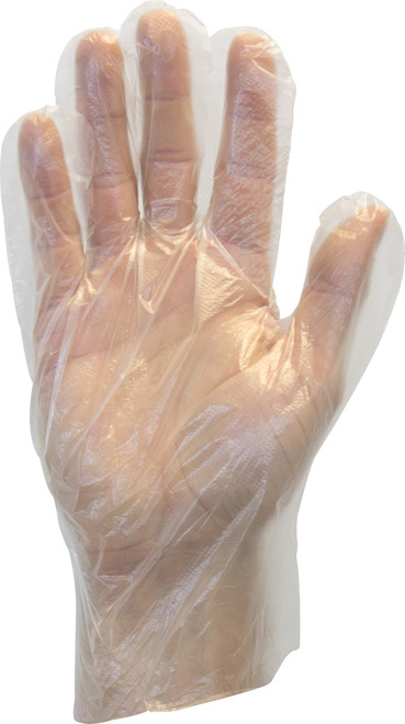 Clear High Density Polyethylene Glove, 500/BX 2BX/Carton 10Carton
