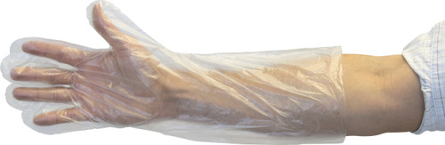 "18"" Clear Polyethylene Glove, 250/BX 10BX/CS, Size Large"