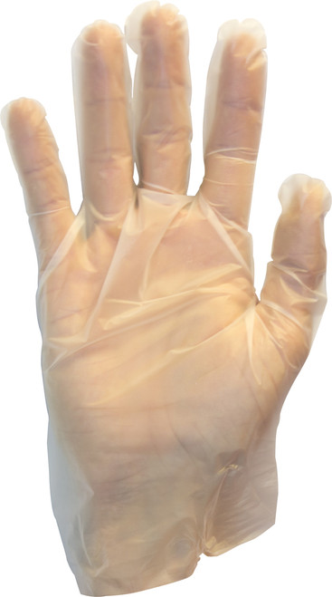 Clear Stretch Hybrid Polyethylene Glove, 100/BX 10BX/CS, SM-XL