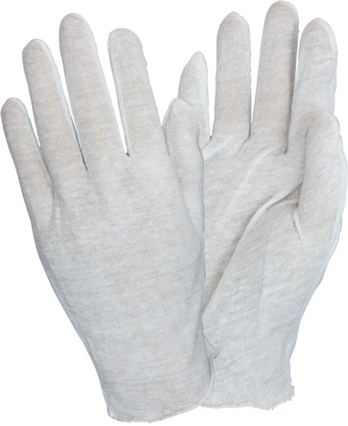 "12"" 100% Cotton Lisle Light Weight Inspector Glove, 1DZ Pair/Bag 100 100 DZ"