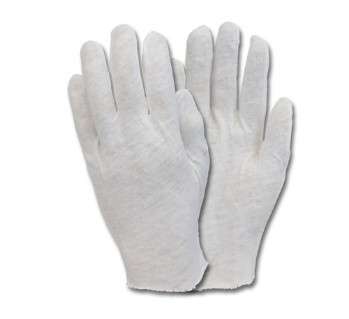 100% Cotton Lisle Medium Weight Inspectors Glove, 1DZ Pair/Bag 10 100 DZ