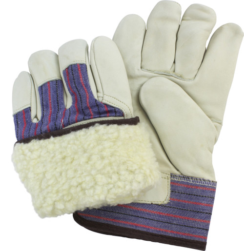 Premium Grade Leather, Rubberized Safety Cuff, Fleece Lining, 1DZ Pa