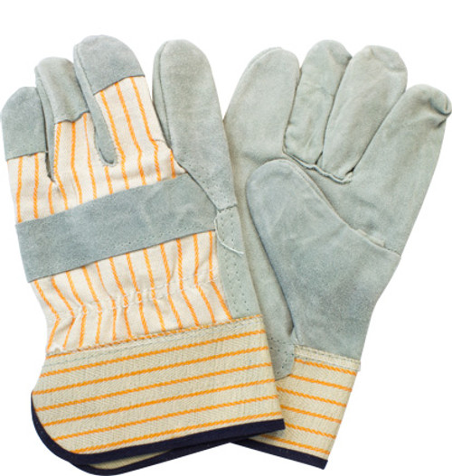"""Premium A"" Grade, Gunn Leather Palm, Rubberized Safety Cuff, 10"