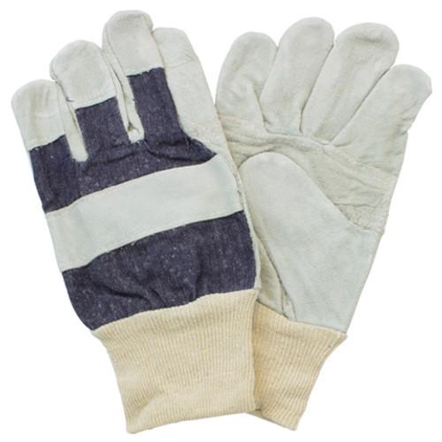 """B"" Grade, Gunn Leather Patch Palm, Knit Wrist, 10DZ/CS, Mens"