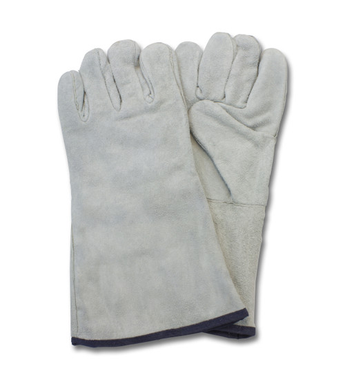 """A/B"" Grade Gunn Cut Gray Leather Welders, 1DZ Pair/Bag 6DZ/CS, M"