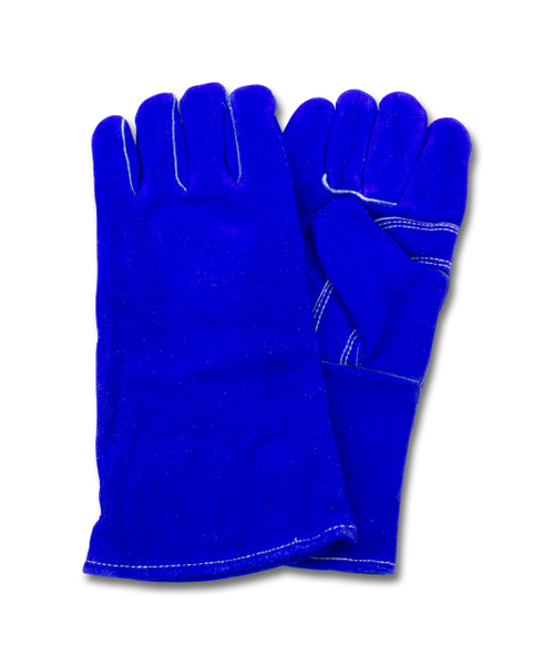 """A"" Grade Gunn Cut Blue Leather Welders, Kevlar Stitching, 1DZ Pair"