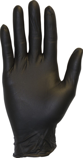 3.3 MIL, Black Powder Free Nitrile, 100/BX 10BX/CS, SM-XL