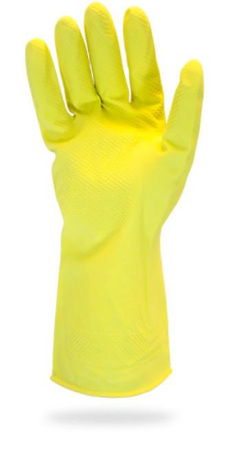 20 MIL, Yellow Flock Lined Latex, Chlorinated, One Pair Per Bag, 12DZ/
