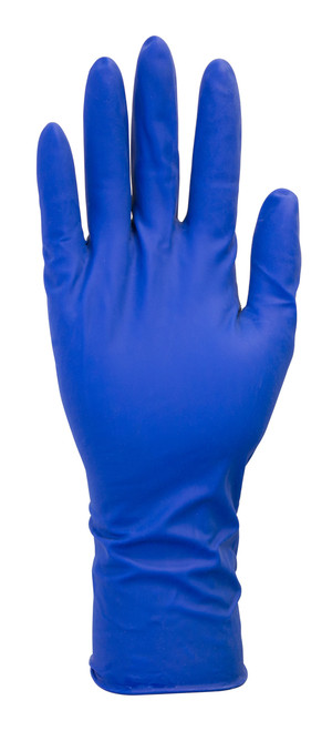 "13 MIL, 12"" Blue Powder Free Latex, Double Chlorinated, 50/BX 10BX/"