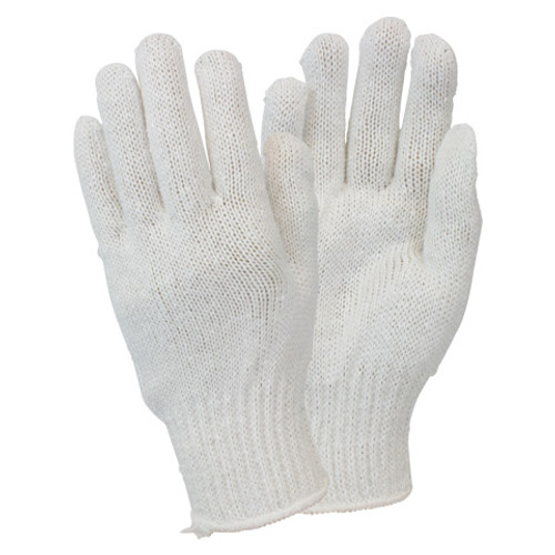 Bright White Medium Weight Cotton Polyester String Knit, 1DZ Pair/  25 DZ