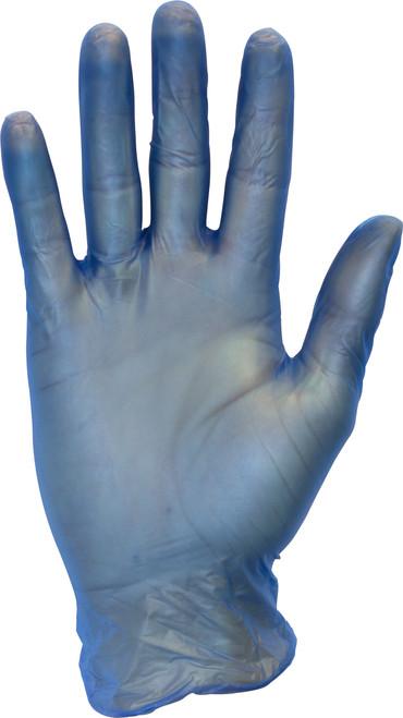 Blue Metal Detectable Premium Powder Free Vinyl, 100/BX 10BX/CS, S
