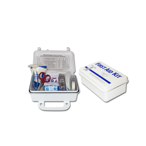 10 Person Plastic First Aid Kit, Sold by the Each