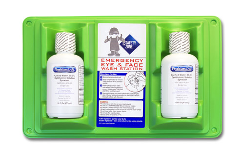 16 Oz. Wall Mount, Double Bottle Eye Wash Station, Sold by the Each
