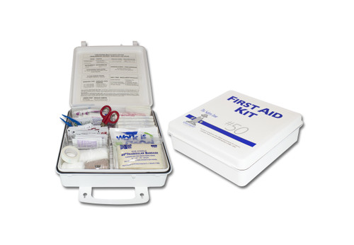 50 Person Plastic First Aid Kit, Sold by the Each
