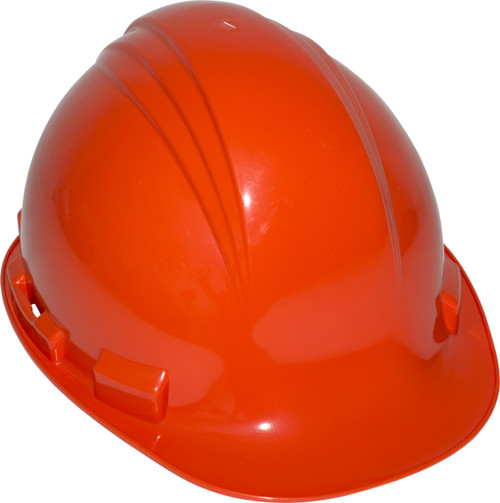 Honeywell Peak Orange HDPE Shell Hard Hat, 4-PT Pinlock Suspension,