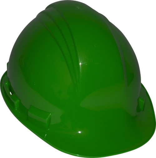 Honeywell Peak Green HDPE Shell Hard Hat, 4-PT Pinlock Suspension,