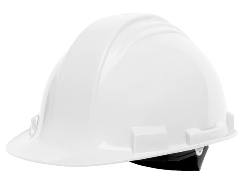 Honeywell Peak White HDPE Shell Hard Hat, 4-PT Ratchet Suspension,