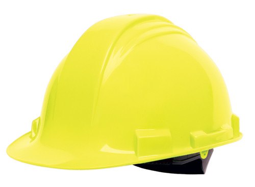Honeywell Peak Yellow HDPE Shell Hard Hat, 4-PT Ratchet Suspension,
