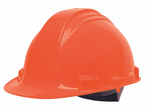 Honeywell Peak Orange HDPE Shell Hard Hat, 4-PT Ratchet Suspension