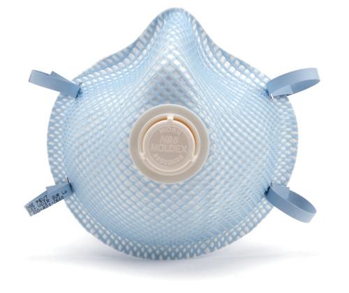 Moldex  Brand NIOSH Approved Respirator, Exhalation Valve, 10/BX 1