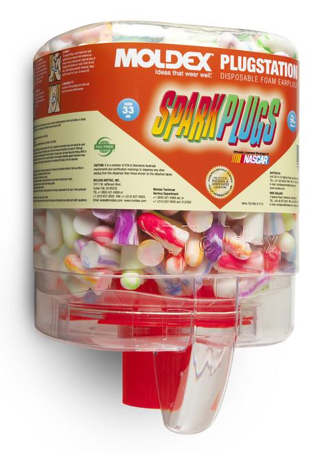 Moldex SparkPlugs PlugStation Dispenser, 250 Pairs/Dispenser, 6 Disp.