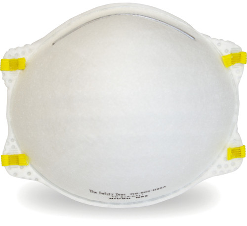 Safety Zone Brand NIOSH Approved Respirator, 20/BX 12BX/CS