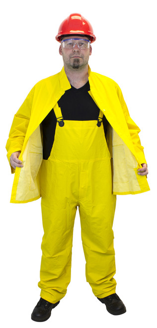 35 MIL Heavy Weight PVC/Polyester 3 Piece Yellow Rain Suit, Sold by t