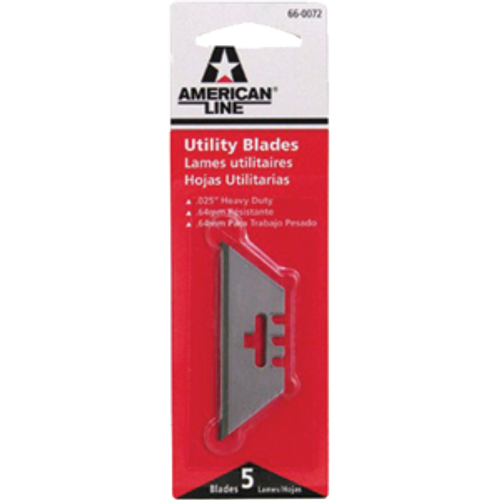 ASR 66-0072 HD 3-NOTCH UTILITY KNIFE BLADE 5PK