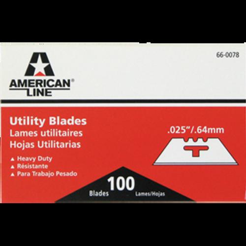 ASR 66-0078 .025 3 NOTCH UTILITY BLADES 100PK
