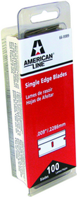 ASR 66-0089-DISP .009 REGULAR/DURO EDGE BLADE 100PK
