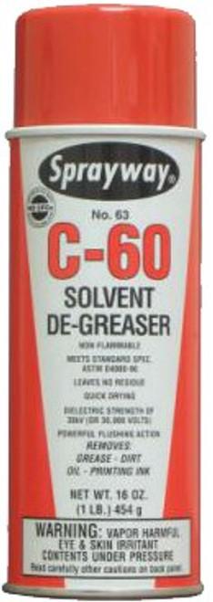 Sprayway 063 C-60 16 oz. 16 oz. Net Solvent Cleaner Degreaser