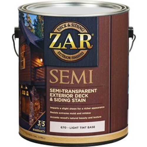 Zar 67013 1G Light Base Semi-Trans Deck & Siding Stain